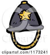 Cartoon Of Grey Police Helmet Royalty Free Vector Illustration by lineartestpilot