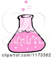 Cartoon Of A Science Beaker Royalty Free Vector Clipart