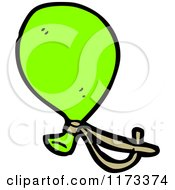 Cartoon Of A Green Balloon Royalty Free Vector Clipart by lineartestpilot