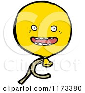 Cartoon Of A Yellow Balloon Mascot Royalty Free Vector Clipart by lineartestpilot