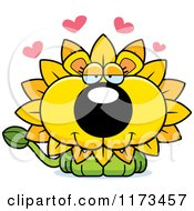 Cartoon Of A Loving Dandelion Flower Lion Mascot Royalty Free Vector Clipart by Cory Thoman