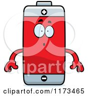 Cartoon Of A Surprised Battery Mascot Royalty Free Vector Clipart