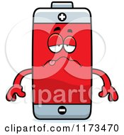 Cartoon Of A Sick Battery Mascot Royalty Free Vector Clipart by Cory Thoman