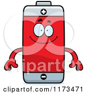 Cartoon Of A Happy Battery Mascot Royalty Free Vector Clipart by Cory Thoman