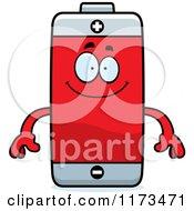 Happy Battery Mascot
