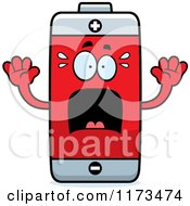 Cartoon Of A Screaming Battery Mascot Royalty Free Vector Clipart by Cory Thoman