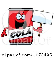 Cartoon Of A Happy Cola Mascot Holding A Mascot Royalty Free Vector Clipart by Cory Thoman