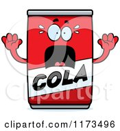 Cartoon Of A Screaming Cola Mascot Royalty Free Vector Clipart by Cory Thoman