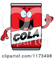 Cartoon Of A Smart Cola Mascot With An Idea Royalty Free Vector Clipart by Cory Thoman