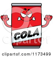 Cartoon Of A Mad Cola Mascot Royalty Free Vector Clipart by Cory Thoman