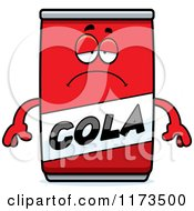 Cartoon Of A Depressed Cola Mascot Royalty Free Vector Clipart by Cory Thoman