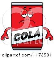 Cartoon Of A Sick Cola Mascot Royalty Free Vector Clipart by Cory Thoman
