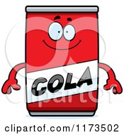 Cartoon Of A Happy Cola Mascot Royalty Free Vector Clipart