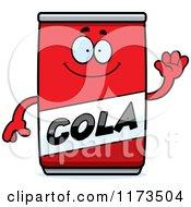 Cartoon Of A Waving Cola Mascot Royalty Free Vector Clipart by Cory Thoman