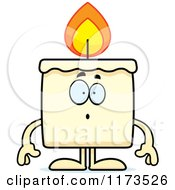 Cartoon Of A Surprised Candle Mascot Royalty Free Vector Clipart