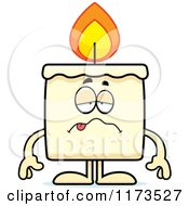 Cartoon Of A Sick Candle Mascot Royalty Free Vector Clipart