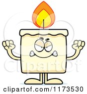 Cartoon Of A Mad Candle Mascot Royalty Free Vector Clipart