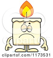 Cartoon Of A Depressed Candle Mascot Royalty Free Vector Clipart