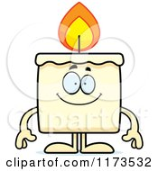 Cartoon Of A Happy Candle Mascot Royalty Free Vector Clipart