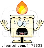 Cartoon Of A Screaming Candle Mascot Royalty Free Vector Clipart