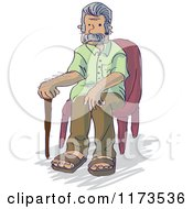 Senior Grandpa Man Sitting In A Chair