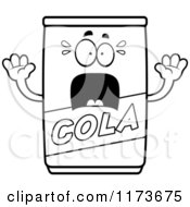 Cartoon Clipart Of A Screaming Cola Mascot Vector Outlined Coloring Page by Cory Thoman