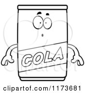 Cartoon Clipart Of A Surprised Cola Mascot Vector Outlined Coloring Page by Cory Thoman