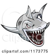 Clipart Of An Aggressive Swimming Gray Shark 2 Royalty Free Vector Illustration by Vector Tradition SM