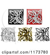 Clipart Of Celtic Stork Knots Royalty Free Vector Illustration by Vector Tradition SM