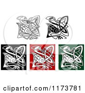 Clipart Of Celtic Heron Knots Royalty Free Vector Illustration