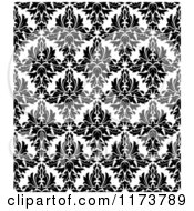 Clipart Of A Black And White Triangular Damask Pattern Seamless Background 31 Royalty Free Vector Illustration