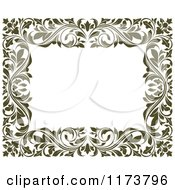 Clipart Of A Frame Of Ornate Vines On White 6 Royalty Free Vector Illustration