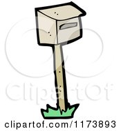 Cartoon Of A Mailbox Royalty Free Vector Clipart