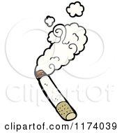 Cartoon Of A Smoking Cigarette Royalty Free Vector Clipart