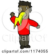 Cartoon Of A Man Puking Lightning Royalty Free Vector Clipart by lineartestpilot