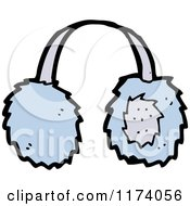 Cartoon Of Blue Ear Muffs Royalty Free Vector Clipart