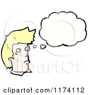 Cartoon Of Blonde Mans Head Royalty Free Vector Illustration