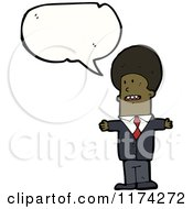 African American Businessman With A Conversation Bubble