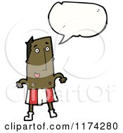 Cartoon Of An African American Man With A Conversation Bubble Royalty Free Vector Illustration
