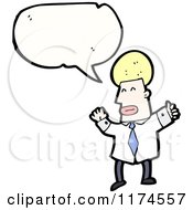 Man Wearing A Tie With A Conversation Bubble