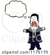 Cartoon Of A Crying Man Wearing A Tie With A Conversation Bubble Royalty Free Vector Illustration