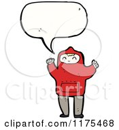Cartoon Of A Boy Wearing A Hoodie With A Conversation Bubble Royalty Free Vector Illustration