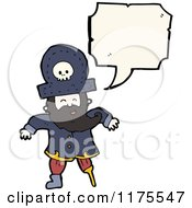 Cartoon Of A Pirate With A Wooden Leg Conversation Bubble Royalty Free Vector Illustration