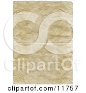 Aged Wrinkly Old Paper Background Clipart Illustration