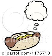 Cartoon Of A Hotdog With A Conversation Bubble Royalty Free Vector Illustration