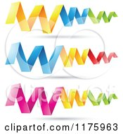 Clipart Of Colorful Zig Zag Folded Paper Design Elements Royalty Free Vector Illustration