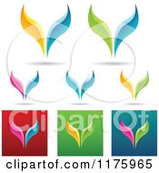 Clipart Of Colorful Fish Tail Designs Royalty Free Vector Illustration