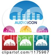 Clipart Of Audio Equalizer Bar Designs Royalty Free Vector Illustration