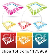 Clipart Of Colorful Square Designs Royalty Free Vector Illustration by cidepix