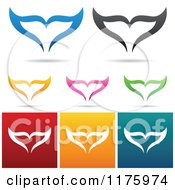 Clipart Of Colorful Whale Tail Designs Royalty Free Vector Illustration by cidepix #COLLC1175974-0145